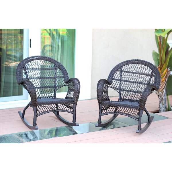 Malmesbury Wicker Rocker Chair (Set of 2) by Ophelia & Co.