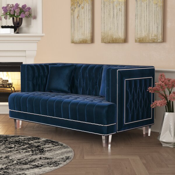 Cool Trendy Hettie Chesterfield Loveseat by Willa Arlo Interiors by Willa Arlo Interiors