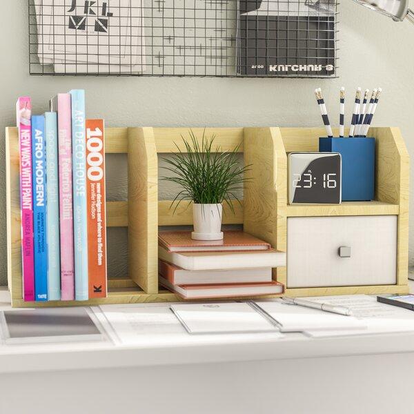 Desk Storage Shelf with Bin by Rebrilliant