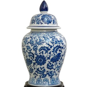 Christophe Blue Porcelain Decorative Urn