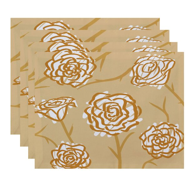 Cherry Spring Floral 2 Placemat (Set of 4) by Latitude Run