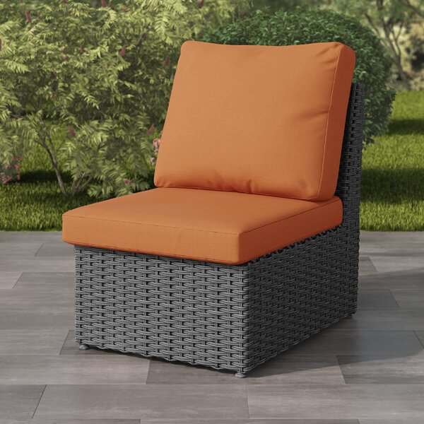 Killingworth Weather Resistant Resin Wicker Patio Armless Chair with Cushions by Rosecliff Heights