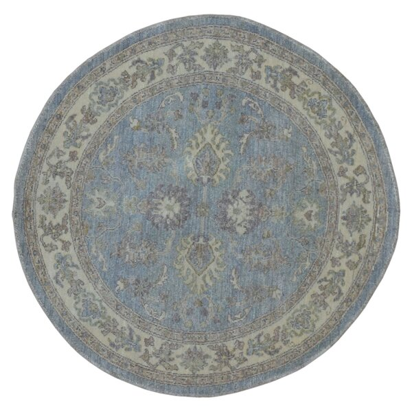 One-of-a-kind Evert Peshawar Hand-Woven Wool Blue Area Rug by Darby Home Co