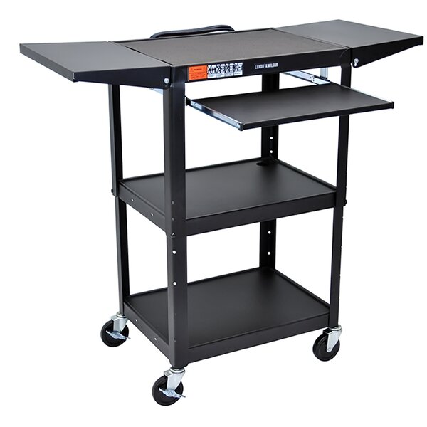 Adjustable Height AV Cart by Offex