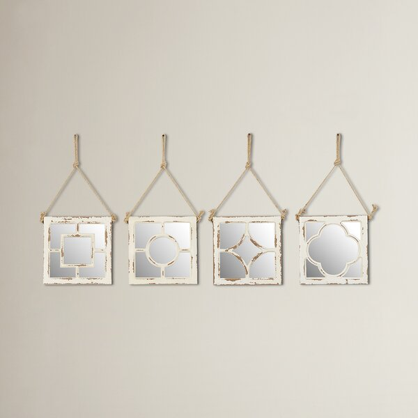 Wood Wall Mirror (Set of 4) by Beachcrest Home