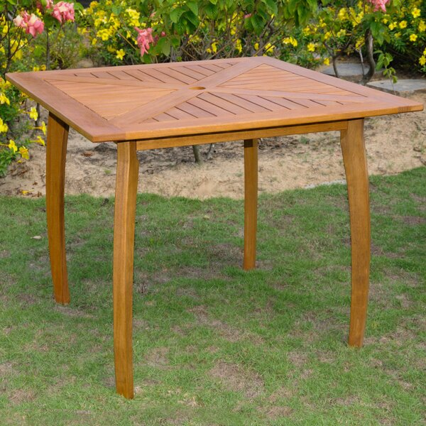 Sabbattus Wood Patio Bistro Table by Breakwater Bay