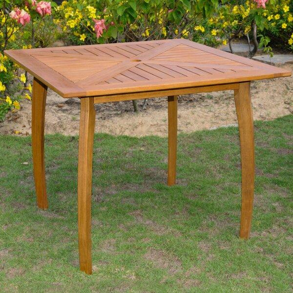 Sabbattus Wood Patio Bistro Table by Breakwater Bay