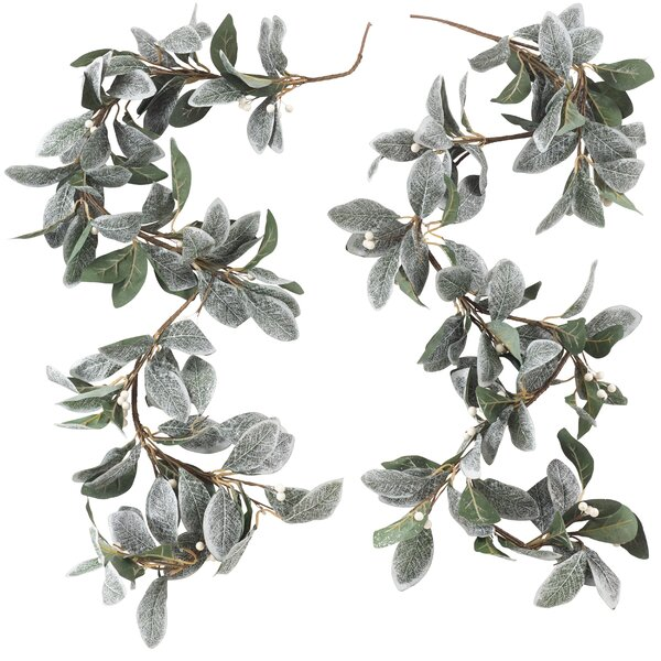 Decorative Frosted Leaf Branch Garland by August Grove