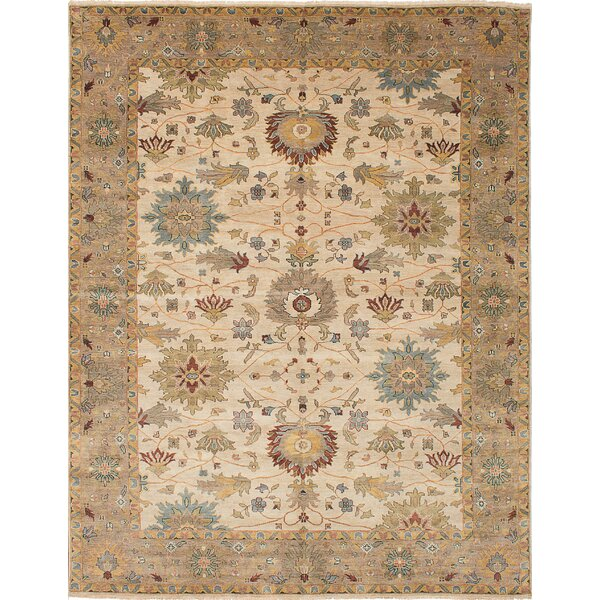 Bassford Hand-Woven Ivory Area Rug by Darby Home Co