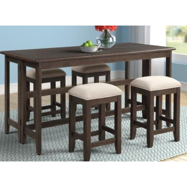 Mcneill 5 Piece Counter Height Dining Set by Red Barrel Studio Red Barrel Studio