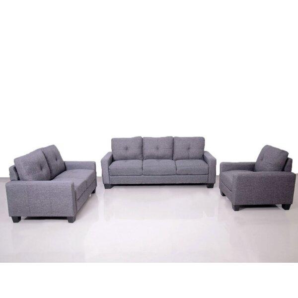 Cloey 3 Piece Living Room Set by Ebern Designs