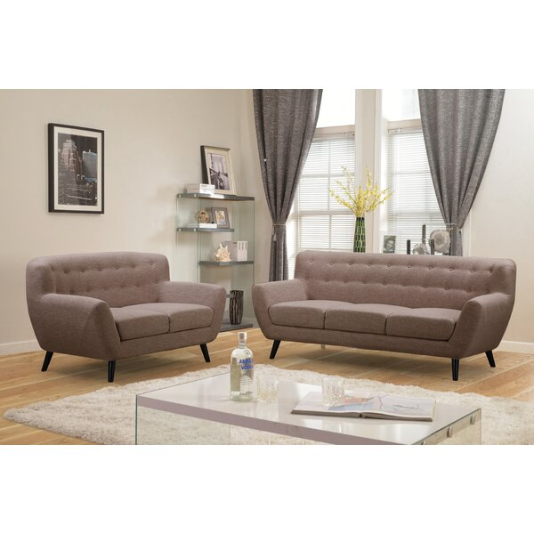 Darwin 2 Piece Living Room Set by Noble House