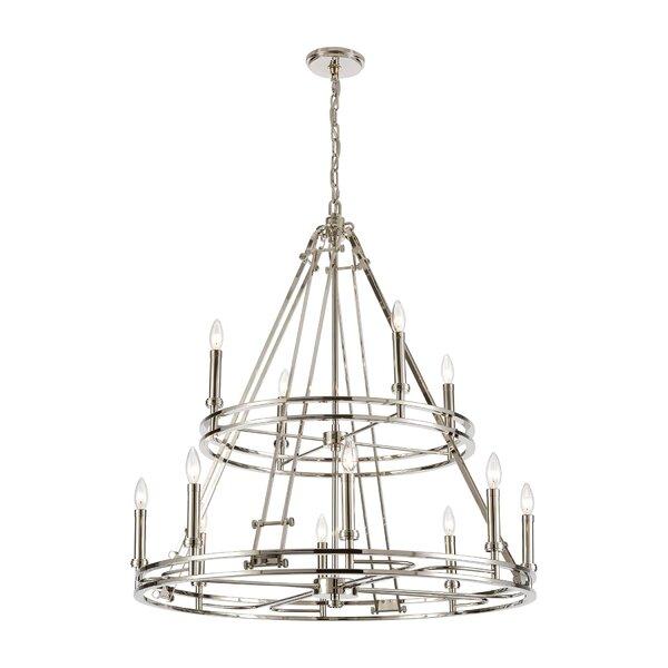 Bansal 12 - Light Unique Geometric Chandelier By Orren Ellis