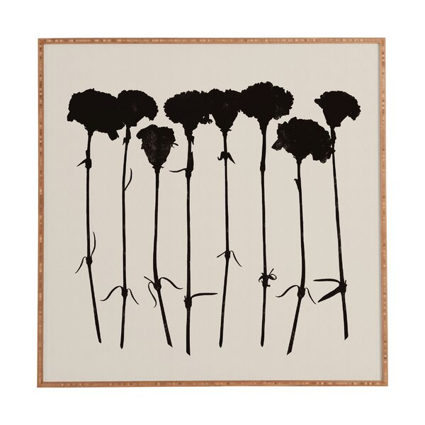 Carnations by Garima Dhawan Framed Graphic Art Plaque in Black by Deny Designs
