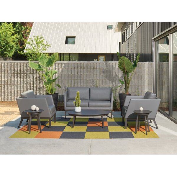 Mandeville 6 Piece Sofa Seating Group with Cushions by Beachcrest Home