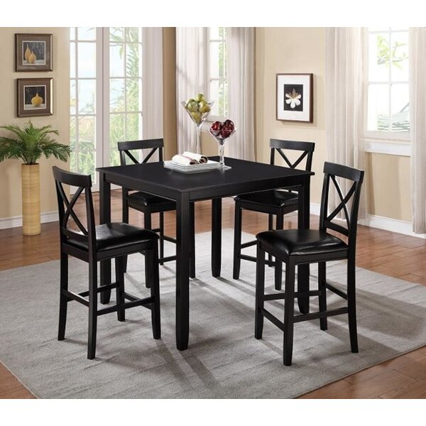 Pineiro Square 5 Piece Dining Set (Set of 5) by Charlton Home