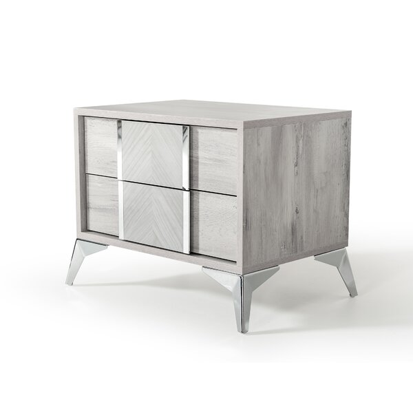 Labombard Modern 2 Drawer Nightstand by Brayden Studio