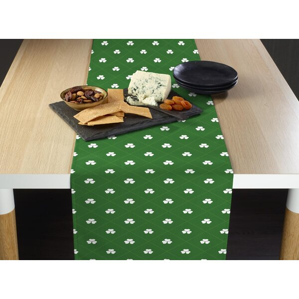 Eustice Shamrock Diamonds Table Runner by The Holiday Aisle