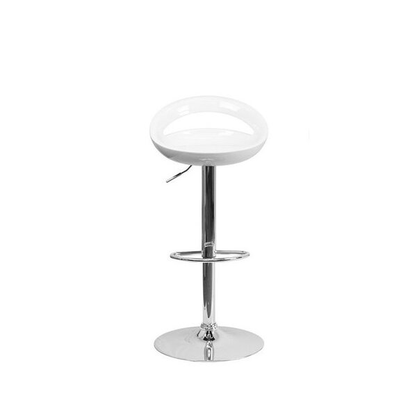 Pogue Adjustable Height Swivel Bar Stool by Wrought Studio