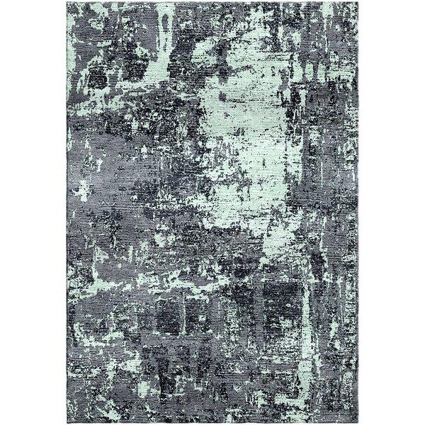 Ashford Handloom Gray/Green Area Rug by Ivy Bronx