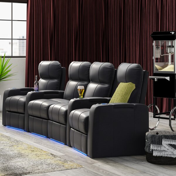Home Theater Loveseat (Row Of 4) By Latitude Run