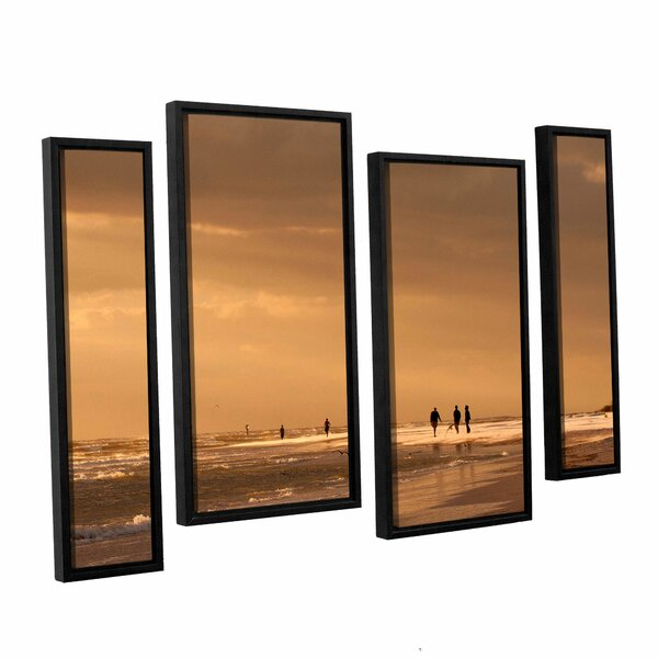 Walkers Siesta Key by Lindsey Janich 4 Piece Framed Photographic Print on Canvas Set by ArtWall