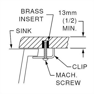 Mounting Kit for Undermount Installation for Silhouette Island-7185 by American Standard