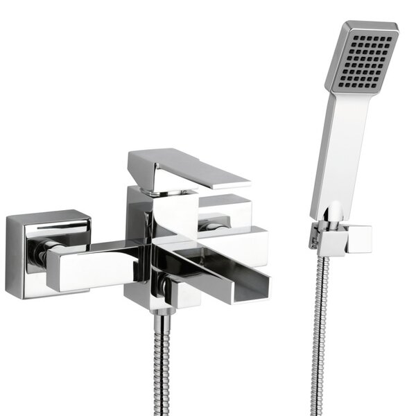 Single Handle Wall Mounted Tub Filler Trim with Hand Shower by Remer by Nameek's