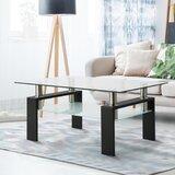 Gala 4 Legs Coffee Table with Storage by Orren Ellis