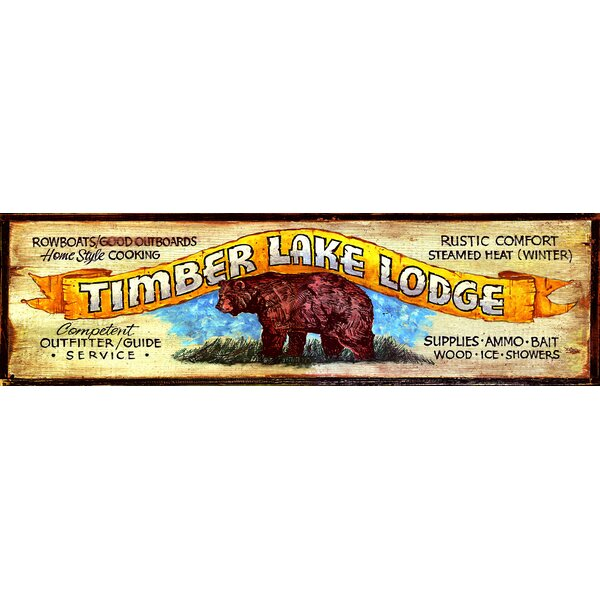 Timberlake Vintage Advertisement Plaque by Millwood Pines