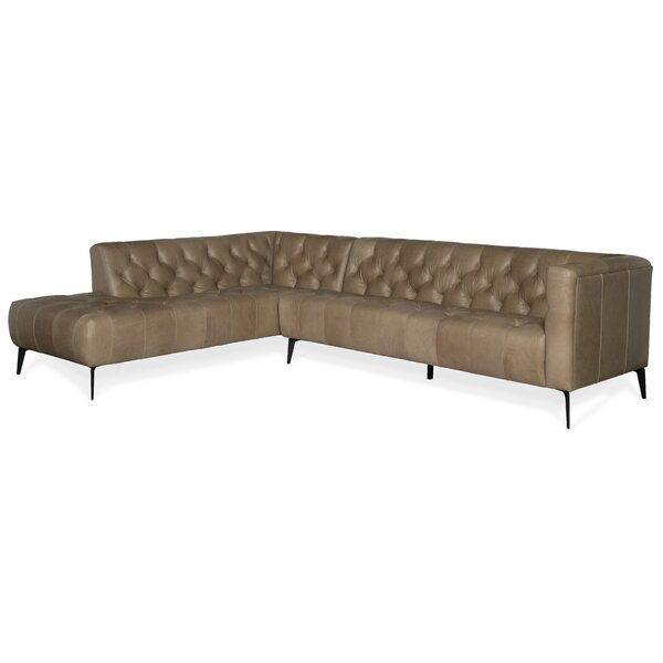 Nicolla Leather Sectional by Hooker Furniture Hooker Furniture