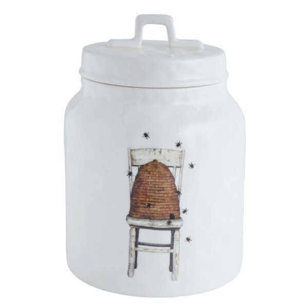 Stoneware Jar Kitchen Canister by August Grove