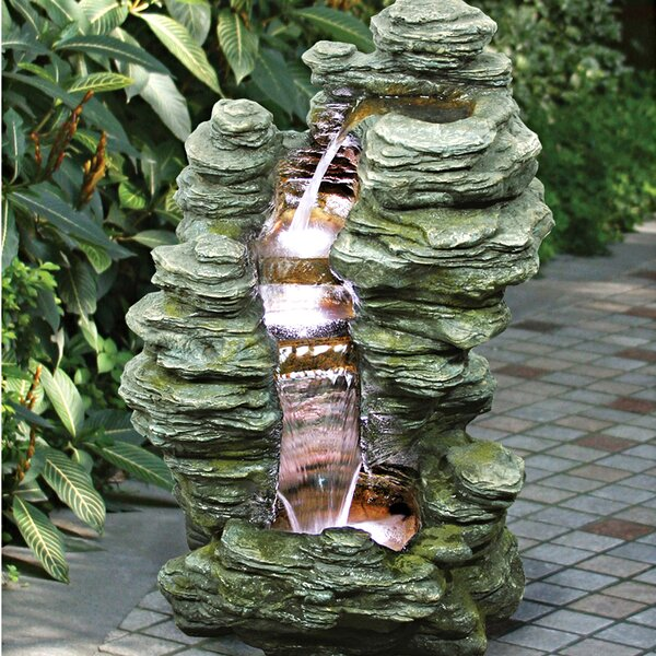 Resin/Natural Stone Cascading Garden Fountain by Wildon Home ®