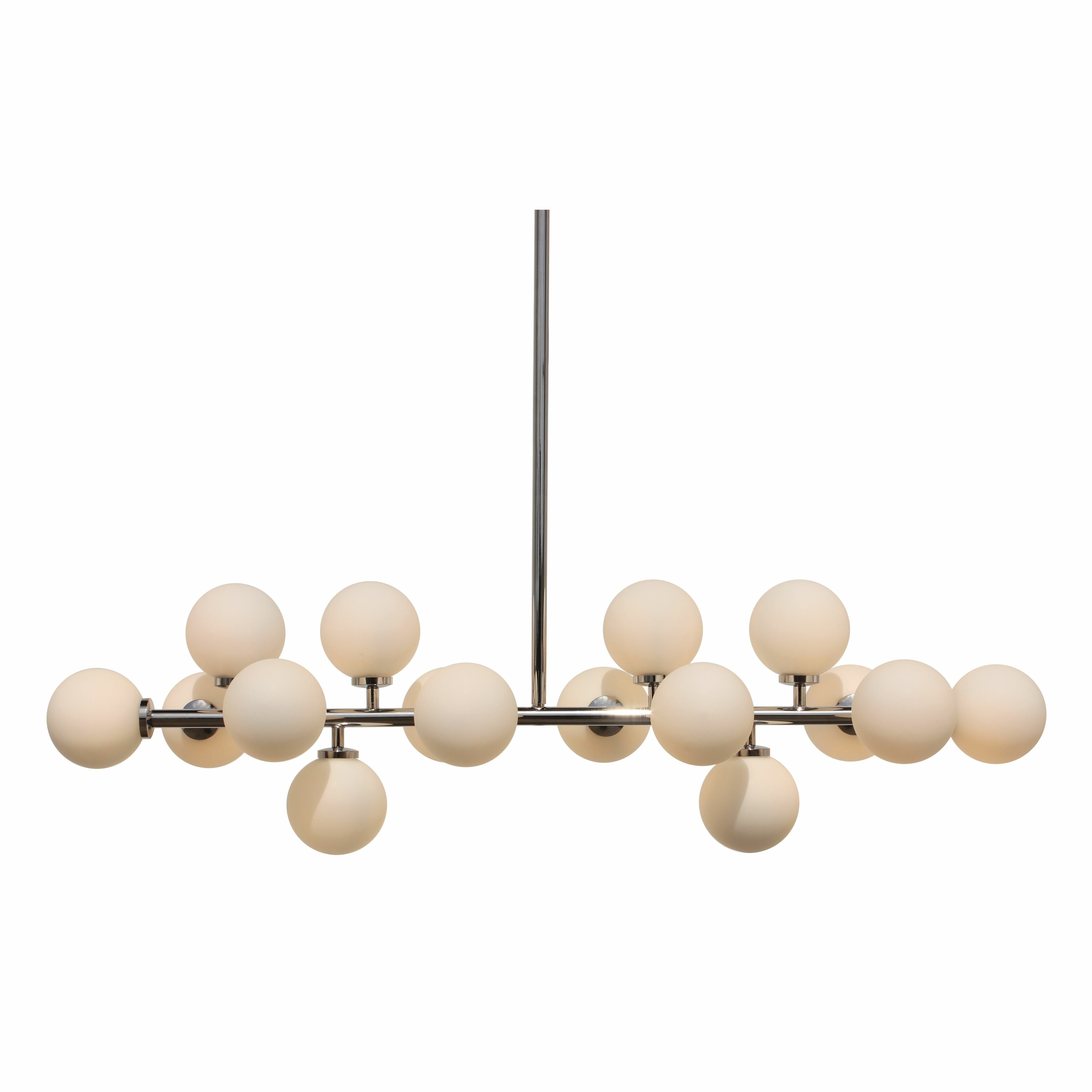 George Oliver Bridwell 16 Light Sputnik Modern Linear Chandelier Reviews Wayfair