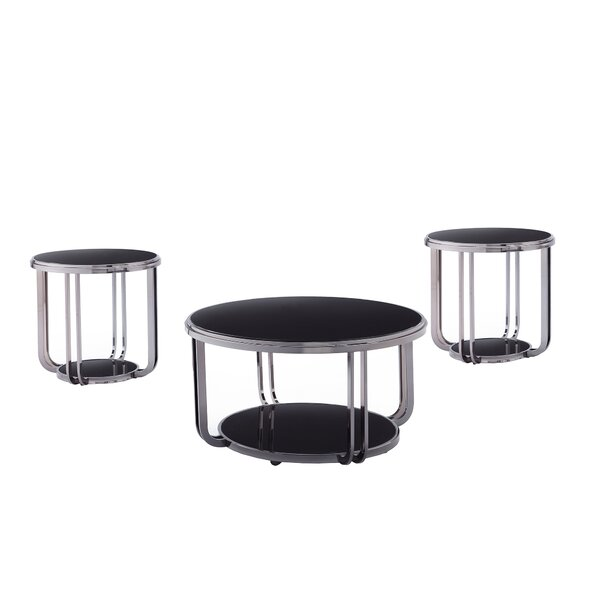 Tampa 3 Piece Coffee Table Set By Orren Ellis