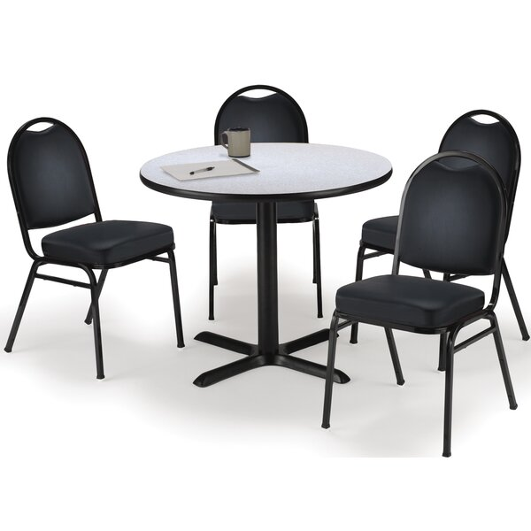 Round Cafeteria Table and Chair Set by KFI Seating