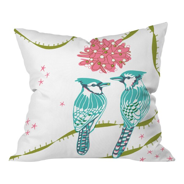 Betsy Olmsted Holiday Birds Throw Pillow by Deny Designs