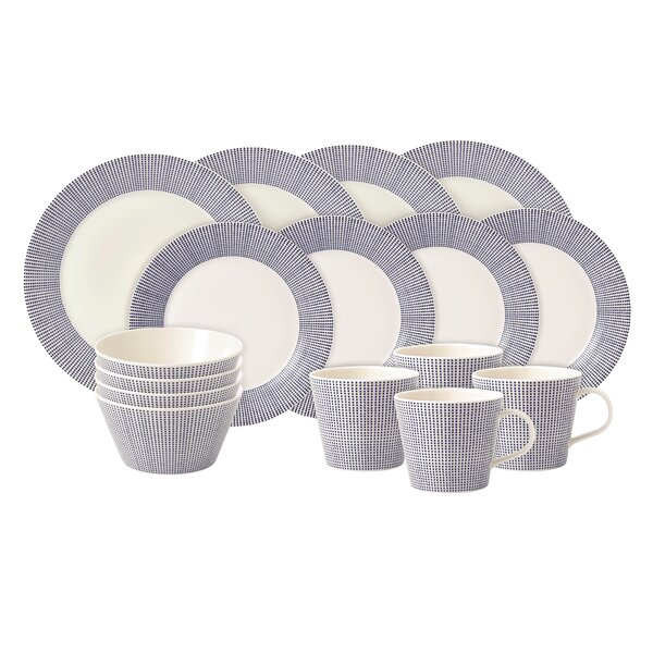 Pacific 16 Piece Dinnerware Set, Service for 4 by