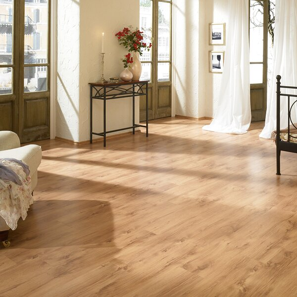 7 x 47 x 8mm Oak Laminate Flooring in Tan by ELESGO Floor USA