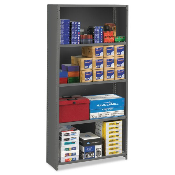 Closed Commercial Steel 75 H Five Shelf Shelving Unit by Tennsco Corp.