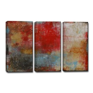 'Impromptu' by Norman Wyatt Jr. 3 Piece Painting Print Wrapped Canvas Set by Ready2hangart