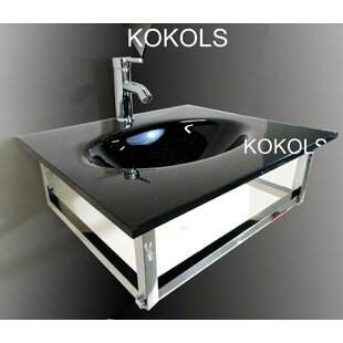 Comparison Glass Rectangular Vessel Bathroom Sink with Faucet By Kokols
