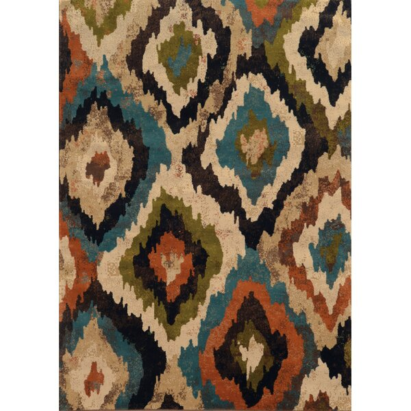 Corben Abstract Blue/Brown Area Rug by World Menagerie
