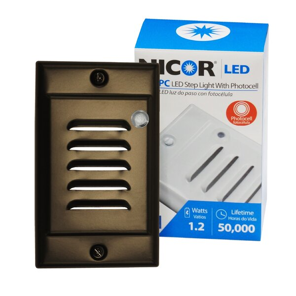 LED Step Light with Photocell Sensor by NICOR Lighting