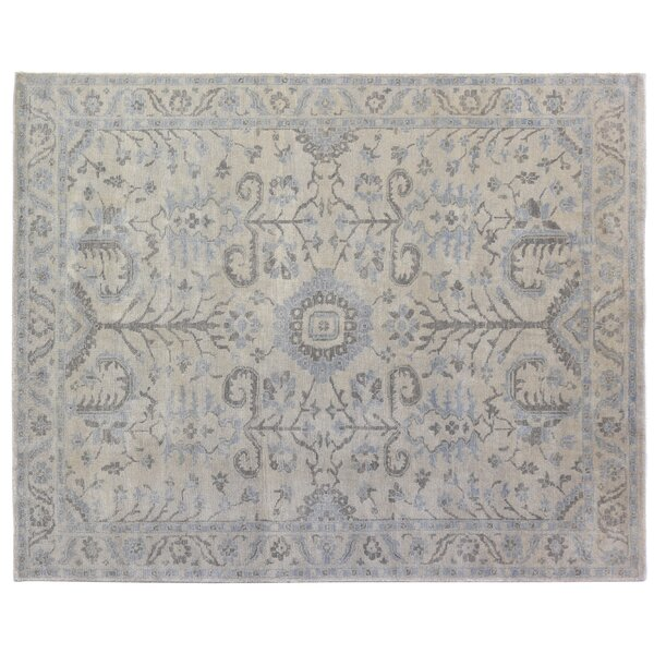 Ziegler Hand-Knotted Wool Gray/Blue Area Rug by Exquisite Rugs