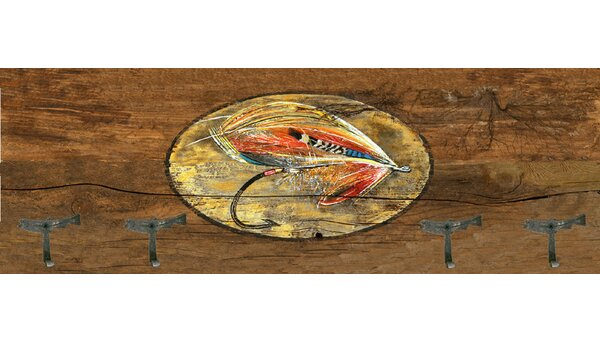 Fly Coat Rack Painting Print Plaque by Millwood Pines