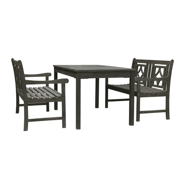 Andromeda 3 Piece Patio Dining Set by Beachcrest Home