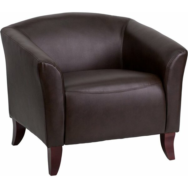 Whicker Leather Guest Chair by Orren Ellis