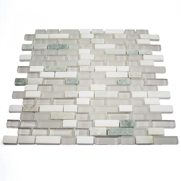 Victoria Falls Random Sized Mixed Material Tile in White by Splashback Tile