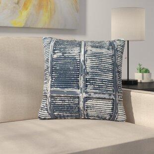 Susan Sanders Rustic Shutters Nautical Outdoor Throw Pillow